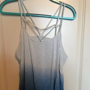 American Eagle Soft & Sexy Blue Ombre Tank Top